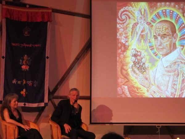 "Alex Grey shared the inspiration for his painting ""St. Albert and the LSD Revelation Revolution."""