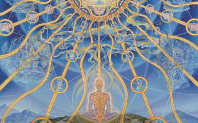 Vajravision by Alex Grey, featured in Zig Zag Zen: Buddhism and Psychedelics