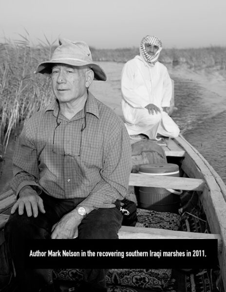 Author Mark Nelson in the recovering southern Iraqi marshes in 2011