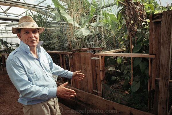 Project founder John Allen inside Biosphere 2
