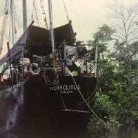 Sailing the Amazon River on RV Heraclitus, a ship that Allen helped to design and build