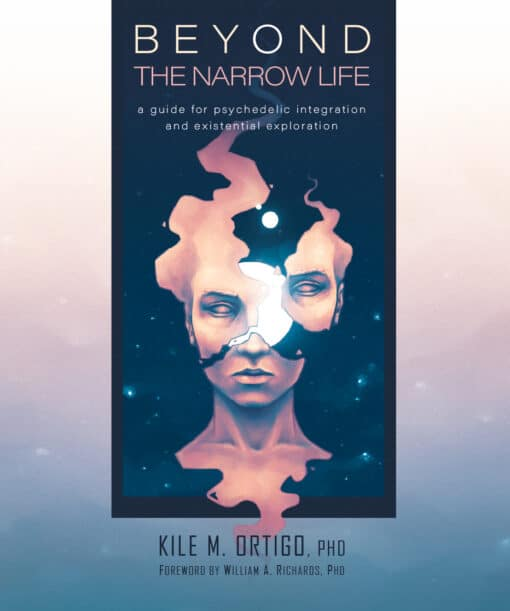 Beyond The Narrow Life: A Guide For Psychedelic Integration and Existential Exploration. Book cover designed and illustrated by Gustavo Attab